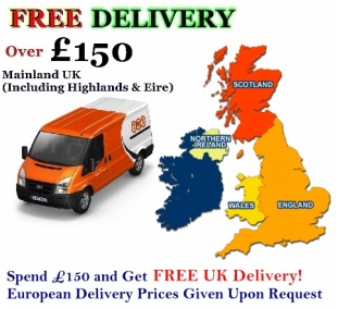 We can Deliver your order throughout the UK and Europe