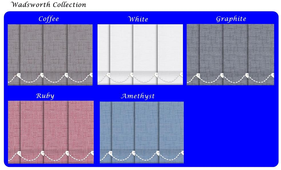 Vertical Blinds wadsworth collection range