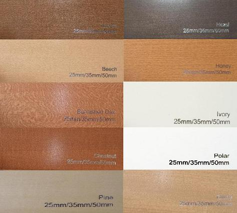 Wood Venetian Blind Colours