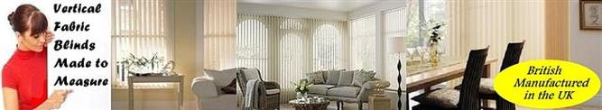 Vertical fabric blinds made to measure
