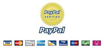paypal verified and cc payments accepted