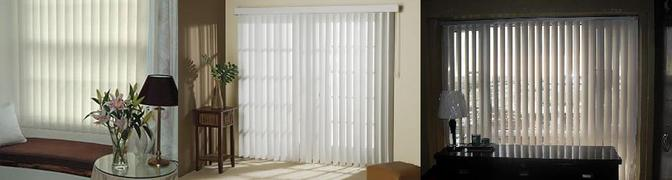 PVC vertical blinds showroom pictures