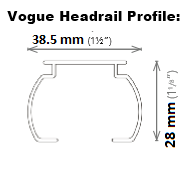 Louvolite Vogue Headrail Profile